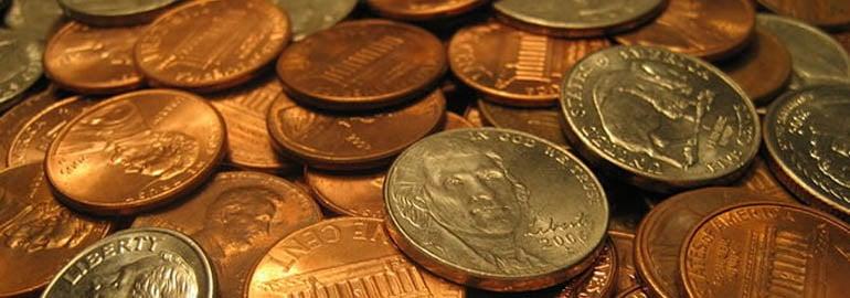 Обложка: У вас есть неограниченное количество монет достоинством 25, 10, 5 и 1 цент. Напишите код, определяющий количество способов представления n центов
