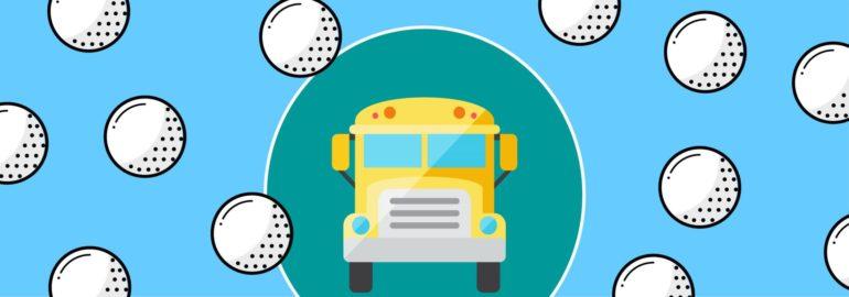Обложка: Cколько мячей для гольфа войдет в школьный автобус?