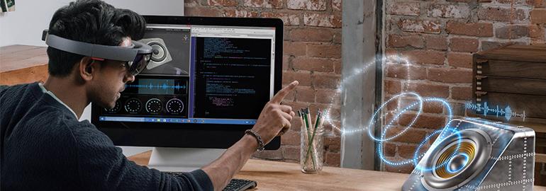 Обложка: Как разрабатывать приложения смешанной реальности для Microsoft HoloLens: сборка и тестирование