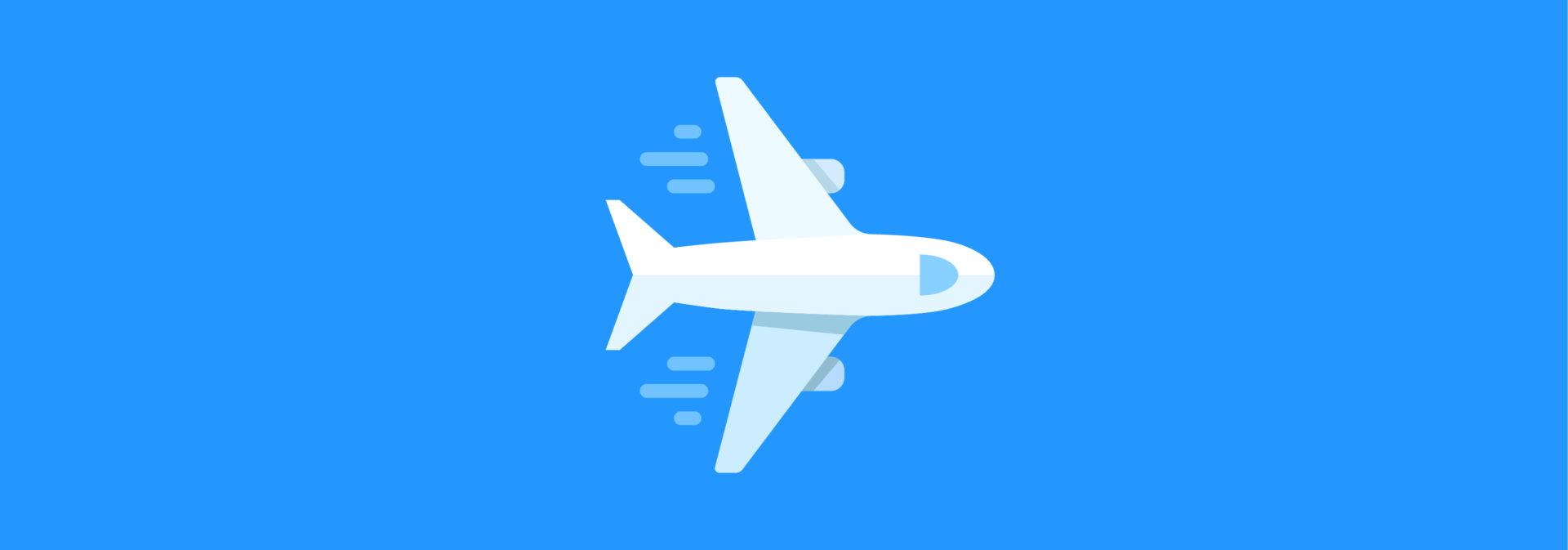 самолет взлетает по транспортеру