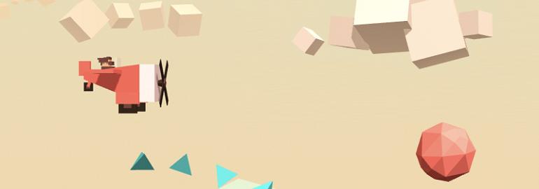 Обложка: Создание игры «Aviator»: изучаем основы 3D-анимации c Three.js. Часть первая. Создание сцены