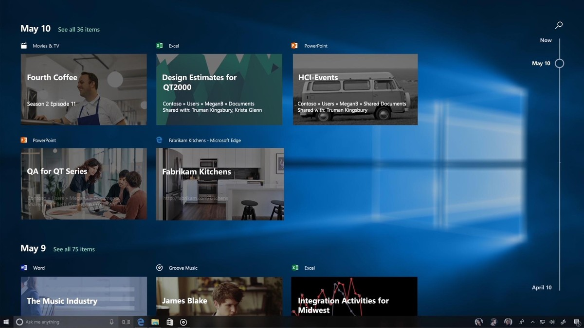 Windows Timeline