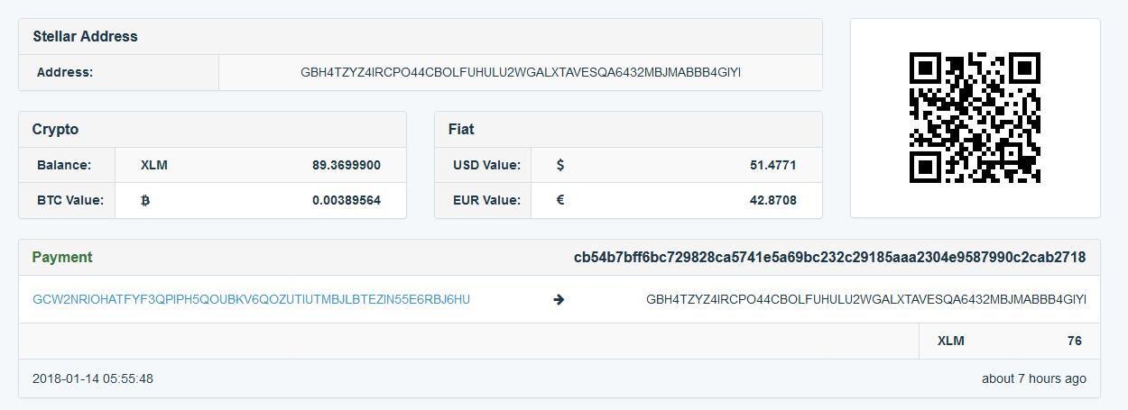 скриншот: остаточные средства на ресурсе blackwallet после атаки