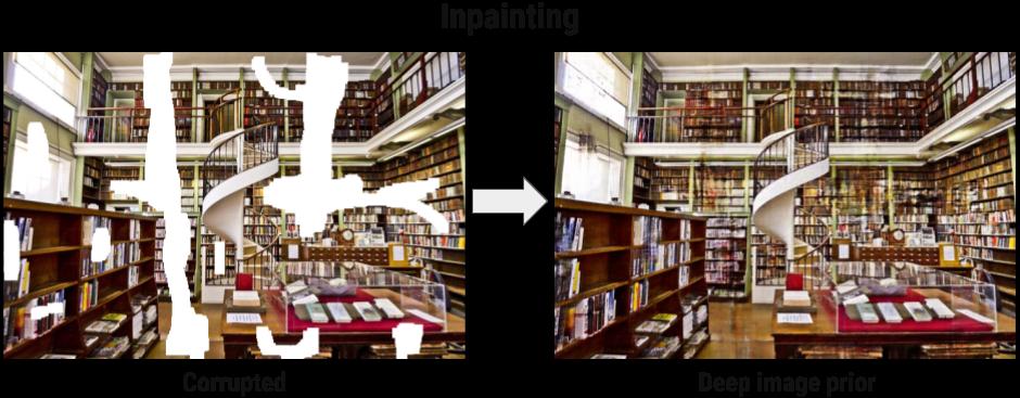 Пример заполнения пробелов в изображении: библиотека