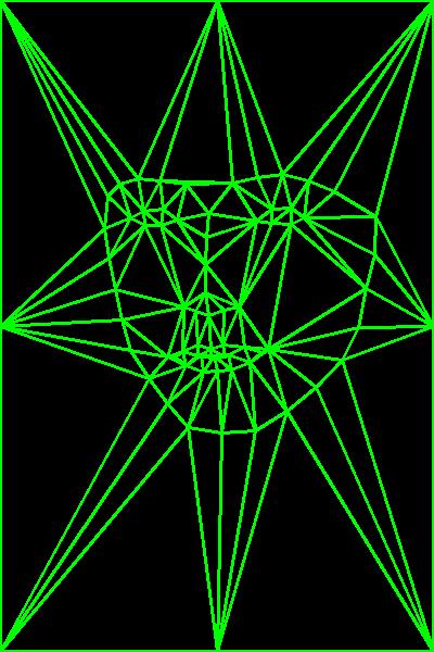 Модель лица, разбитого на треугольники по ключевым точкам