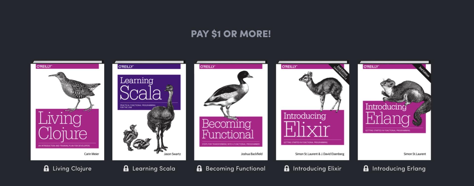 Первые пять книг из серии Humble Bundle