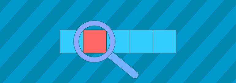 Обложка: Задача на поиск элемента в массиве