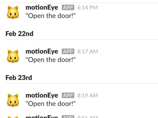 Уведомления от системы распознавания «Открой дверь»