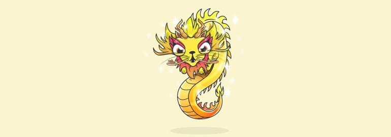 CryptoKitties: Golden Dragon Cat