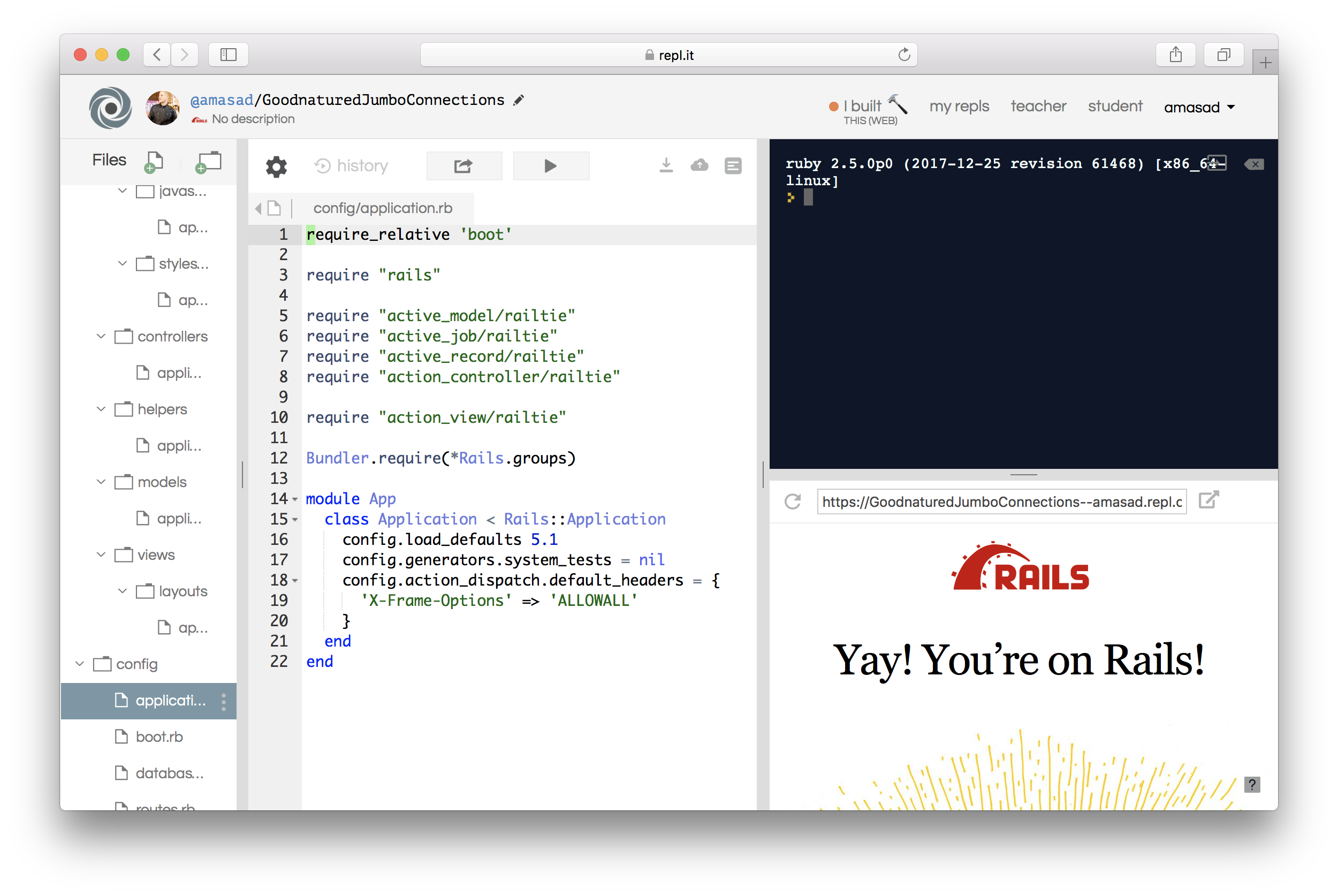 Rails support