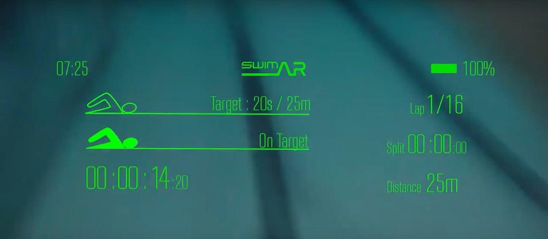 SwimAR interface