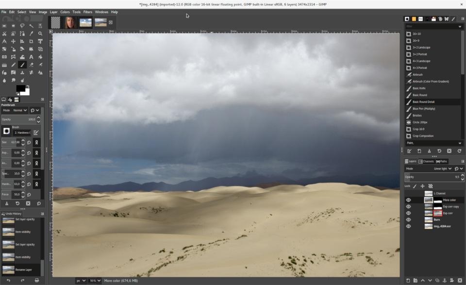 Обновленный интерфейс GIMP