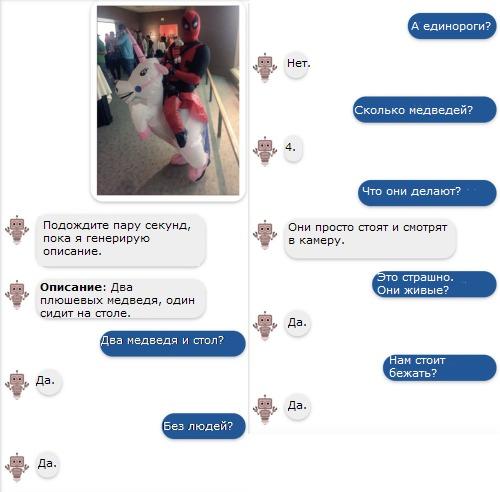 Visual Chatbot example
