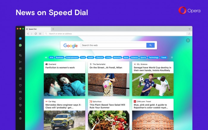 Opera News on Speed Dial