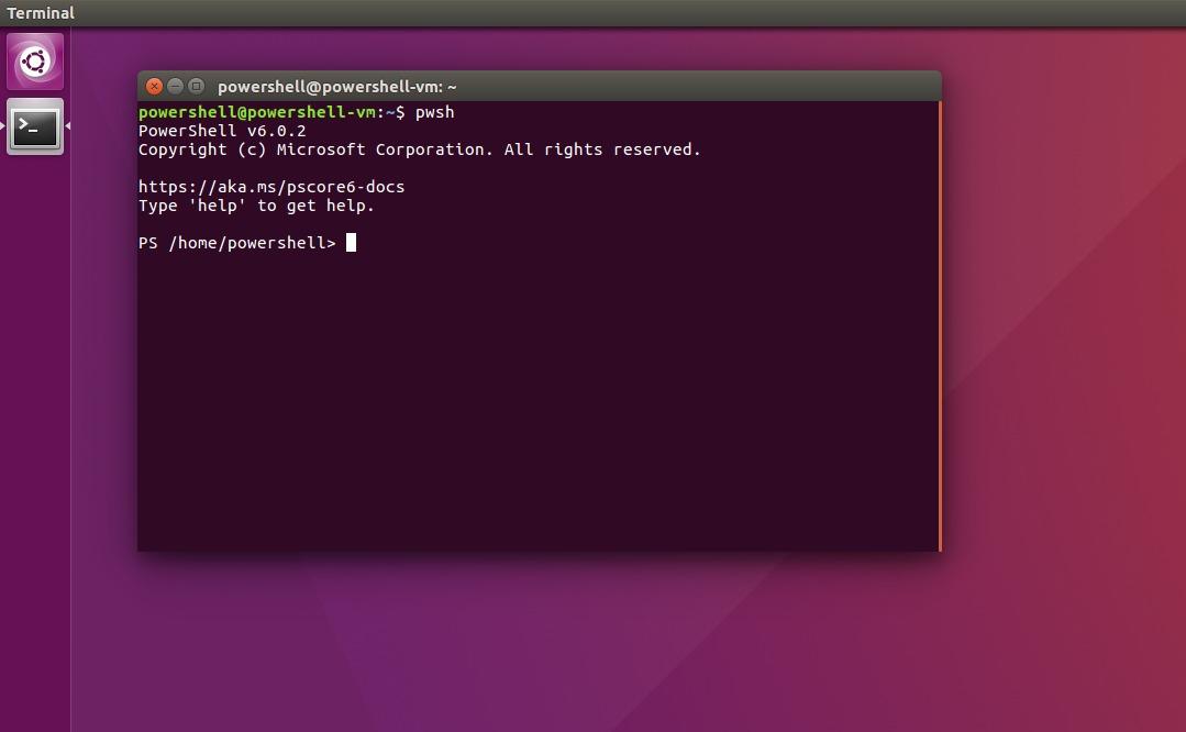 Ubuntu PowerShell example