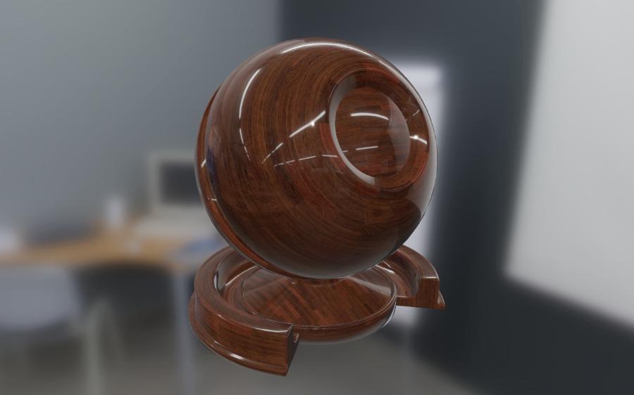Материал, созданный движком Filament