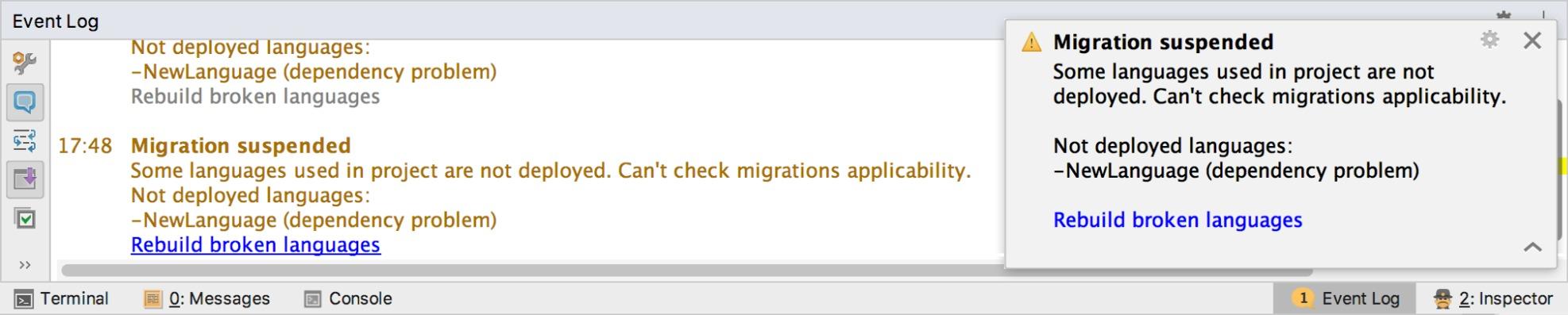 migration notifications