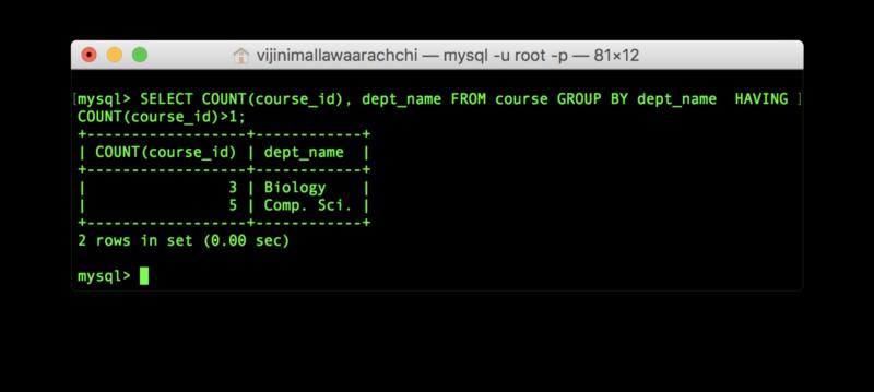 SQL-команды: пример вывода с HAVING