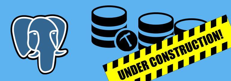 Обложка: Меняем схему базы данных в PostrgreSQL, не останавливая работу приложения