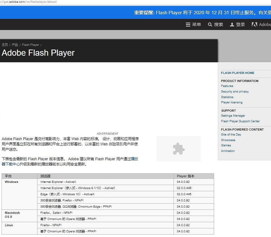 Последняя версия Flash Player
