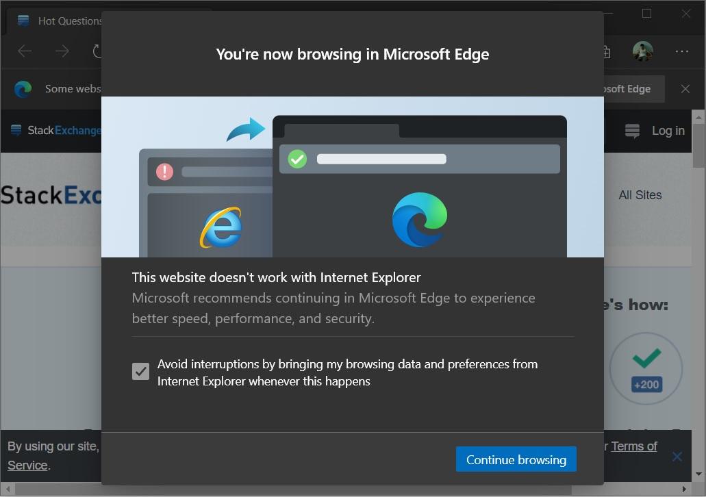 Сайты не поддерживаются в Internet Explorer