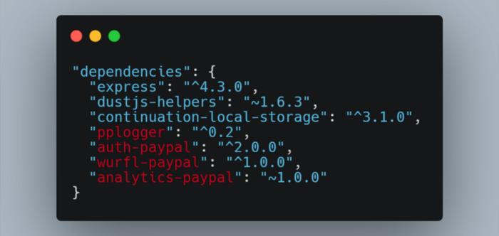 Список зависимостей npm