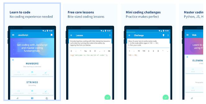 Encode — мобильное приложение для изучения программирования