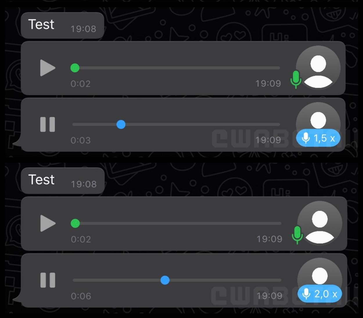 Голосовые сообщения в WhatsApp