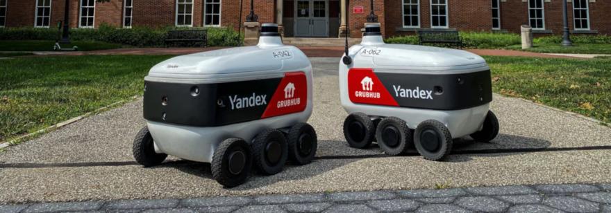 Обложка: Роботы-курьеры от «Яндекса» начали доставлять еду в кампус американского университета