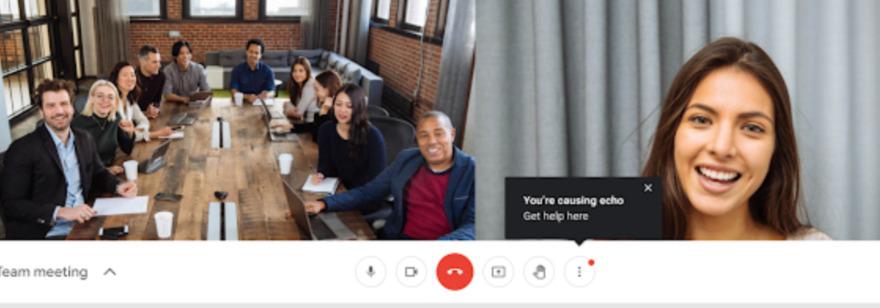 Обложка: Google Meet теперь предупреждает пользователя, если из-за него в звонке возникает эхо